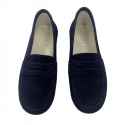 Zapato Mocasín Niño Azul...