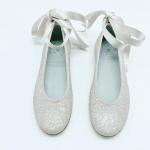 Zapato Niña con Glitter Nude Landos 7123AG
