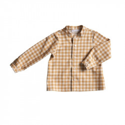 Camisa Cuello Mao Vichy...