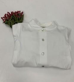 Camisa Blanca Cuello bebé y...