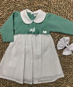 Vestido Niña de Punto Verde...